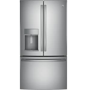 General Electric Appliances Profile™ 27.8 cf French Door Refrigerator with Hands Free Autofill in Stainless Steel GPFE28KSKSS