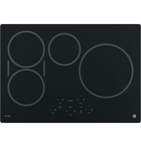 General Electric Appliances Profile™ 29-3/4 in. 4-Burner Ceramic Glass Built-In Touch Control Induction Cooktop in Black GPHP9030DJBB