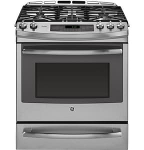 General Electric Appliances Profile™ 30 in. 5.9 cf Dual Fuel Slide-In Convection Range in Stainless Steel GP2S920SEFSS