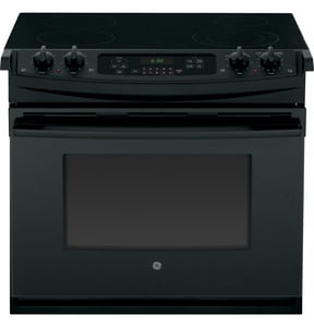 General Electric Appliances 40A 4-Burner Drop-In Electric Range in Black GJD630DFBB