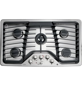 General Electric Appliances Profile™ 36 x 20-3/4 in. 5-Burner Natural Gas Cooktop in Stainless Steel GPGP986SETSS