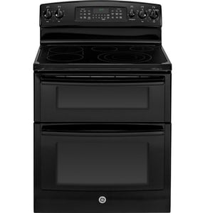 General Electric Appliances 29-7/8 in. 6.6 cf 5-Burner Freestanding Electric Convection Range in Black GJB870DFBB