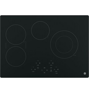 General Electric Appliances Built-In Touch Control Electric Cooktop in Black on Black GJP5030DJBB