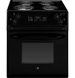 General Electric Appliances 27-1/8 in. 4-Burner Drop-In Electric Range in Black GJM250DFBB