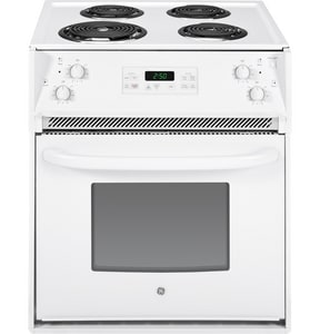 General Electric Appliances 27-1/8 in. 4-Burner Drop-In Electric Range in White GJM250DFWW