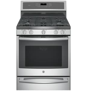 General Electric Appliances Profile™ Dual Fuel Freestanding Convection Range with Warming Drawer in Stainless Steel GP2B940SEJSS