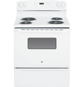 General Electric Appliances 47 x 29-7/8 in. 5 cf 4-Burner Freestanding Electric Range in White GJBS27DFWW