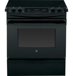 General Electric Appliances 31-3/4 x 28-1/2 in. 4.4 cf 4-Burner Electric Slide-In Range in Black GJS630DFBB