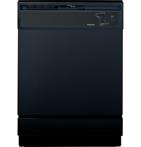 General Electric Appliances Hotpoint® 24 in. 64dB 5-Cycle 2-Option Built-In Dishwasher in Black GHDA2100HBB