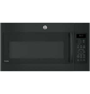 General Electric Appliances Profile™ 1.7 cf Over-the-Range Microwave Oven in Black GPVM9179DKBB