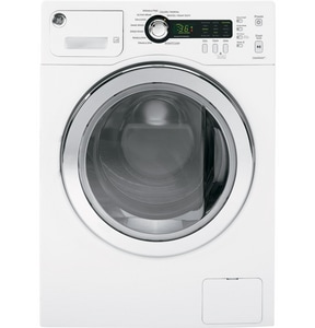 General Electric Appliances 2.2 CF 5 Temperature Front Load Washer in White GWCVH4800KWW