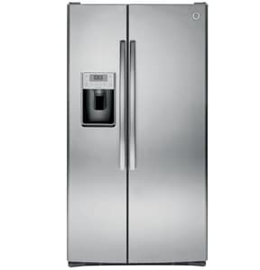 General Electric Appliances Profile™ 35-3/4 in. 28.4 cf Side-By-Side Refrigerator with Dispenser in Stainless Steel GPSS28KSHSS