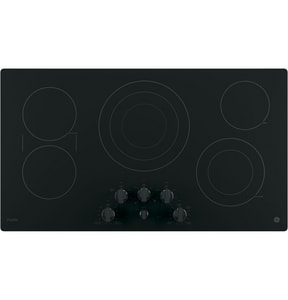 General Electric Appliances Profile™ Built-In Knob Control Cooktop in Black on Black GPP7036DJBB