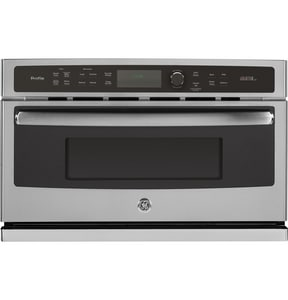 General Electric Appliances Profile™ 29-3/4 in. 1.7 cf 15A Single Electric Convection Wall Oven in Stainless Steel GPSB9120SFSS