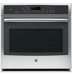 General Electric Appliances Profile™ 29-3/4 in. 5 cf Single Electric Convertible Wall Oven in Stainless Steel GPT9050SFSS