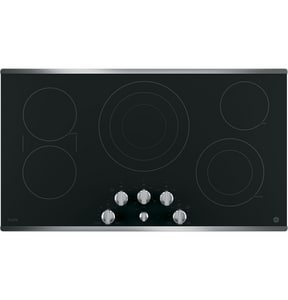 General Electric Appliances Profile™ 36-1/8 in. 5-Burner Ceramic Glass Built-In Knob Control Electric Cooktop in Stainless Steel GPP7036SJSS