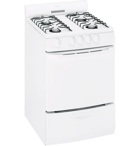 General Electric Appliances Hotpoint® 24 in. Free Standing Gas Range in White GRGA724EKWH