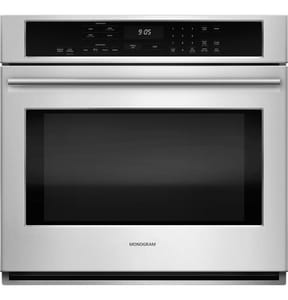 General Electric Appliances Monogram® 29-3/4 in. 5 cf Convection Single Oven in Stainless Steel GZET9050SHSS