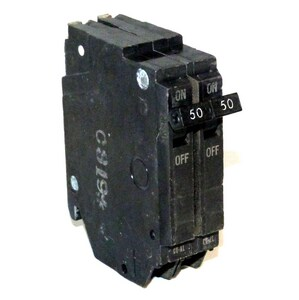 GE Industrial Systems 50A Pole Circuit Breaker GTHQP250