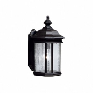 Kichler Lighting Kirkwood 150W1-Light Medium Base Outdoor Wall Lantern in Black KK9029BK