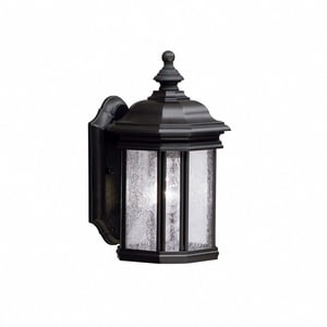 Kichler Lighting Kirkwood 100 W 1-Light Medium Outdoor Wall Lantern in Black KK9028BK