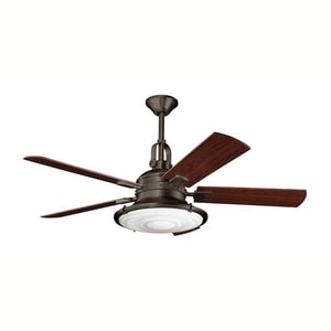 Kichler Lighting Kittery Point™ 52 in. 65W 5-Blade Ceiling Fan with Light Kit in Olde Bronze KK300020OZ