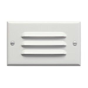Kichler Lighting Horizontal Louver LED Step Light in White KK12600