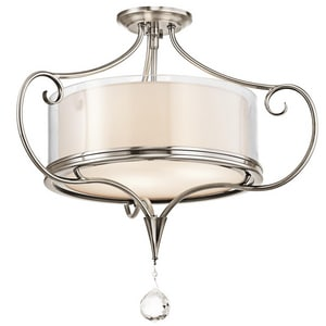 Kichler Lighting Lara 18-3/4 in. 2-Light Semi-Flushmount Ceiling Light KK42866