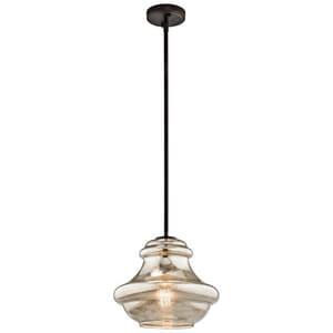Kichler Lighting Everly 12 in. 100W 1-Light Medium Base Incandescent Pendant in Olde Bronze KK42044OZMER