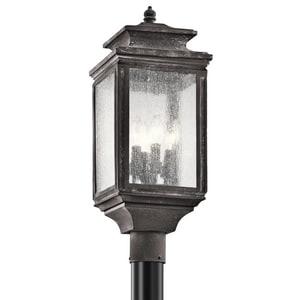 Kichler Lighting Wiscombe Park 60W 4-Light Post Mount Lantern KK49506