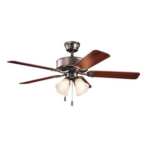 Kichler Lighting Renew Premier Collection 50 in 5-Blade Ceiling Fan with 52W 4-Light Compact Fluorescent Light Kit in Oil Brushed Bronze KK339240OBBU