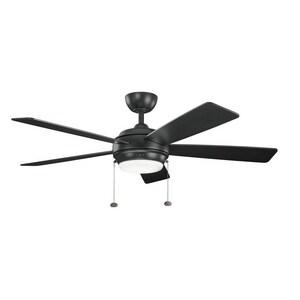 Kichler Lighting Starkk 5 Blade Ceiling Fan In Satin Black