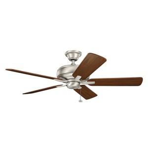 Kichler Lighting Terra 52 in. 5-Blade Ceiling Fan in Brushed Nickel KK330247NI