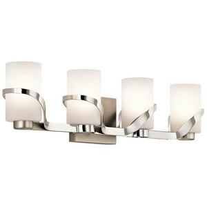 Kichler Lighting Stelata 100W 4-Light Medium E-26 Bath Light in Polished Nickel KK45630PN