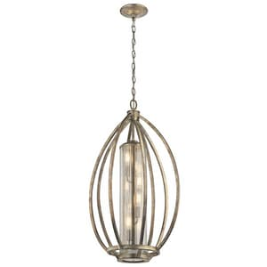Kichler Lighting Savanna 60W 4-Light Incandescent Pendant in Sterling Gold KK43451SGD