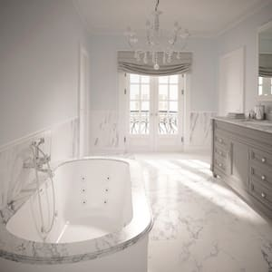 JACUZZI® Duetta® 66 x 42 in. Drop-In Bathtub with Center Drain in Oyster JDUE6642BCXXXXY