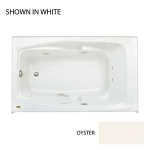 JACUZZI® Cetra® 60 x 36 in. 8-Jet Acrylic Rectangle Drop-In or Skirted Whirlpool Bathtub with Left Drain and J2 Basic Control in Oyster JCTS6036WLR2CHY