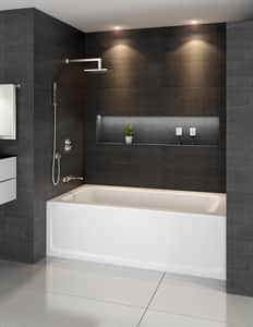 JACUZZI® Signature™ 60 x 30 in. Acrylic Rectangle Skirted Bathtub with Left Drain in Oyster JJ1A6030BLXXRSY