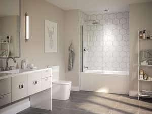 Jacuzzi Linea® 60 x 30 in. Acrylic Rectangle Skirted Air Bathtub with Right Drain and J2 Basic Control JLNS6030ARL2XX