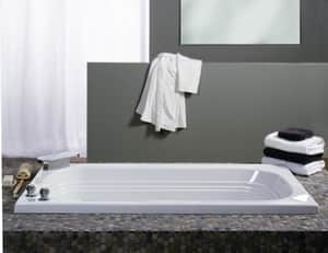 JACUZZI® Luxura® 60 x 32 in. 8-Jet Acrylic Oval in Rectangle Drop-In or Skirted Whirlpool Bathtub with Left Drain and J2 Basic Control in White JLUX6032WLR2XX