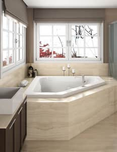JACUZZI® Signature™ 60 x 60 in. 6-Jet Acrylic Corner Drop-In Whirlpool Bathtub with Left Drain with Center Drain and Manual On or Off in Oyster JJ5T6060WCL1HXY