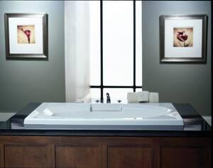 JACUZZI® Nova™ 60 x 42 in. Acrylic Rectangle Skirted Air Bathtub with Left Drain and J2 Basic Control in White JNOV6042ALR2XXW