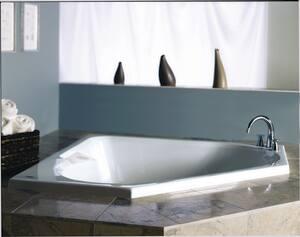 Jacuzzi Tara™ 60 x 60 in. Bathtub with Center Drain JTAR6060WCL2XX