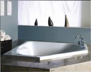 JACUZZI® Tara™ 60 x 60 in. Soaker Drop-In Bathtub with Center Drain in Oyster JTAR6060BCXXXXY