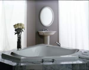 JACUZZI® Capella® 60 x 60 in. Soaker Corner Bathtub in White JCAP6060BCXXXXW