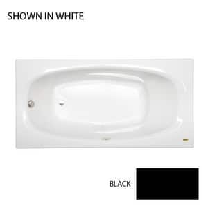 JACUZZI® Amiga® 72 x 36 in. Air Bath Drop-In Bathtub with End Drain in Black JAMS7236ALR2XXB