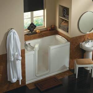 JACUZZI® Finestra® 60 x 30 in. Acrylic Rectangle Alcove Bathtub with Left Drain in White JFIN6030BLXXXXW