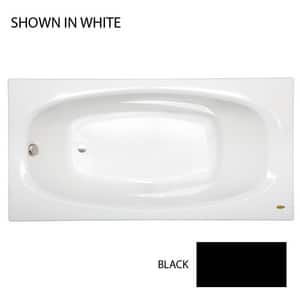 JACUZZI® Amiga® 72 x 36 in. Acrylic Rectangle Drop-In or Skirted Bathtub with Right Drain in Black JAM27236BRXXXXB