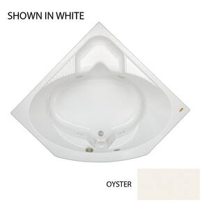 JACUZZI® Capella® 55 x 55 in. 8-Jet Acrylic Corner Drop-In Whirlpool Bathtub with Center Drain and J2 Basic Control in Oyster JCAP5555WCR2HXY
