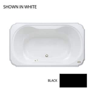 JACUZZI® Bellavista™ 60 x 42 in. Drop-In Bathtub with Center Drain in Black JBEL6042BCX2CXB